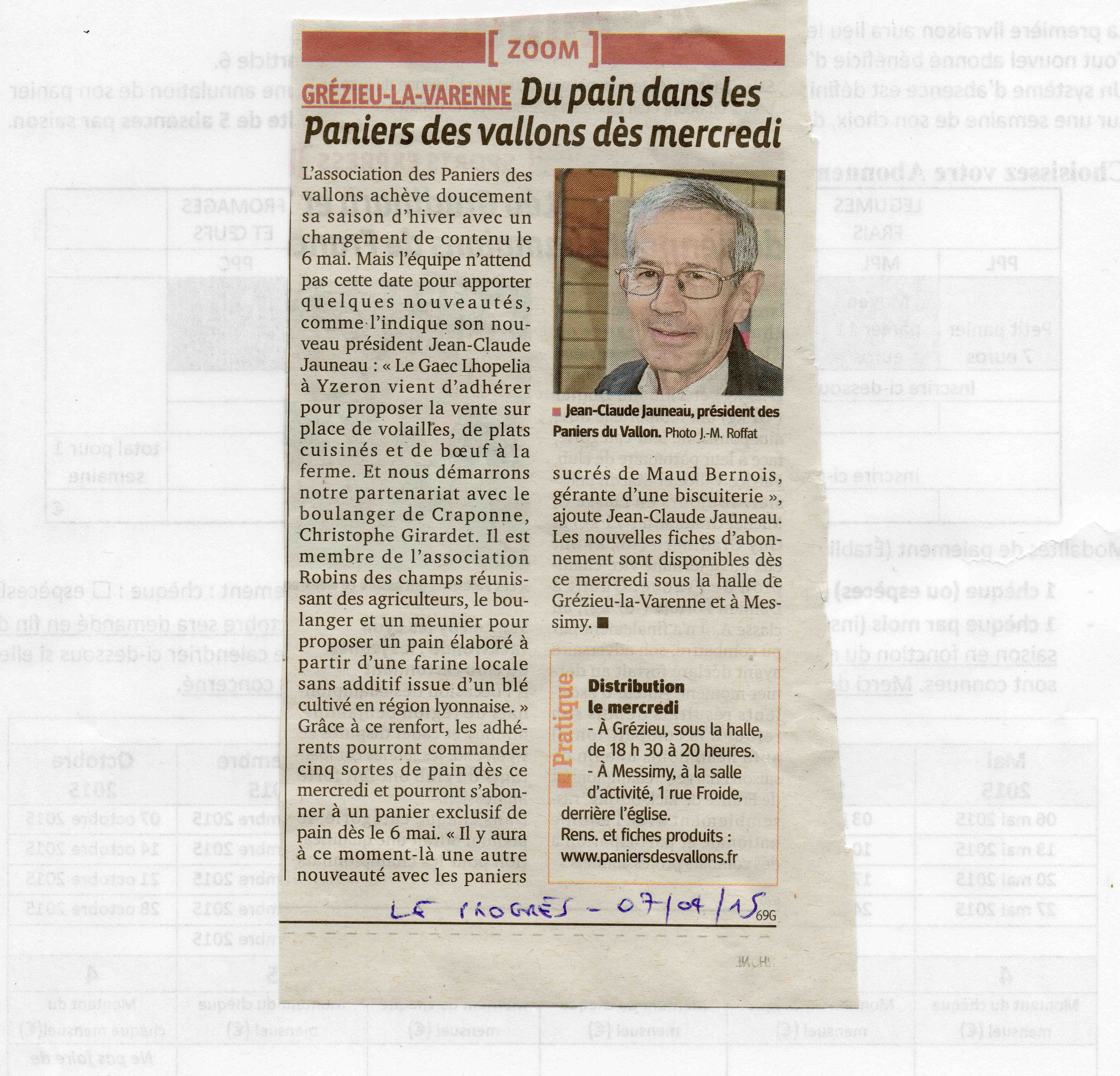 article progrès 7 avril 2015